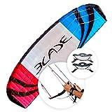 FLEXIFOIL 4.9m² Adult Blade Power Kite | Four Lines | Quad Handles | Safety System | Professional Beach Summer Fun Trick Stunt Kites