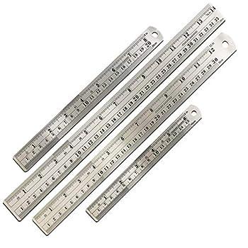 Mr Pen Steel Rulers 6 8 12 14 inch Metal Rulers Pack of 4