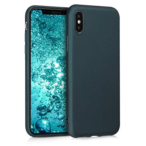 kwmobile Apple iPhone X Hülle - Handyhülle für Apple iPhone X - Handy Case in Metallic Petrol
