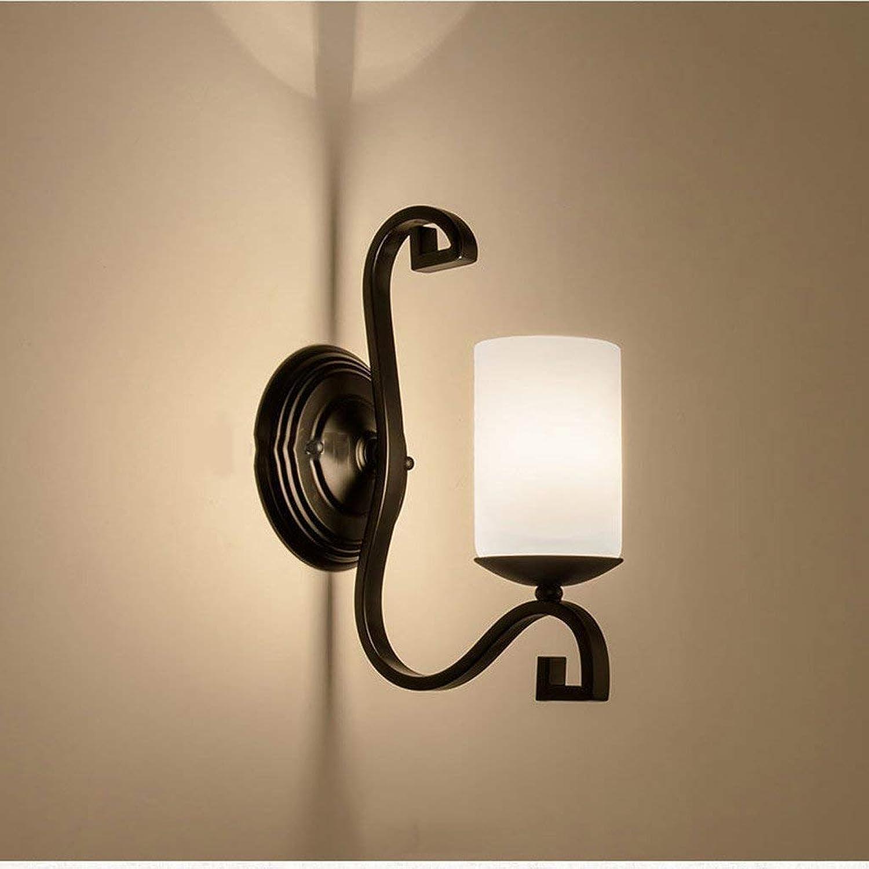 HhGold Die Schlafzimmer Nachttischlampe Walk Nordic Lampe Retro Irons Single Haupt Flur Lampe Wandspiegel am Ende (Farbe   -, Gre   -)