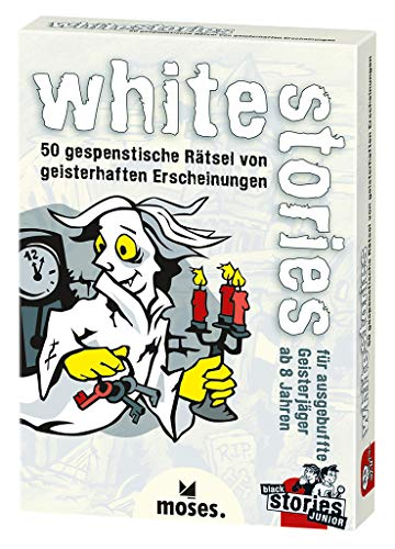 Moses black stories Junior white stories, 50 gespenstische Rätsel, Das Rätsel Kartenspiel für Kinder