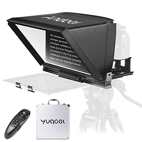Andoer Teleprompter Portable, Mini Teleprompter para Móviles Tabletas Cámaras DSLR con Control Remoto