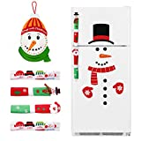 4 Pieces Christmas Refrigerator Handle Covers/Snowman Advent Calendar/Clings Decorations - Xmas Fridge Oven Display Cabinet Kitchen Appliance Door Handle Protector