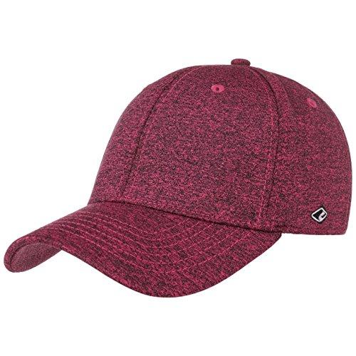 Bukarest Pink Melange Cap Basecap Fullcap Baseballcap Kappe Curved Brim Chillouts Cap Basecap (L-XL (58-60cm) - pink)