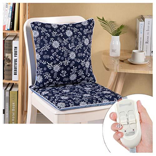 Ocye verwarmd zitkussen van zacht katoen en linnen met thermostaat, snel opwarmen, compact, voor bureaustoelen, autostoelen, rolstoelen