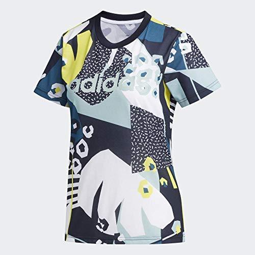 adidas Damen Farm T-Shirt, Legink/Tecmin/Grntnt, XS