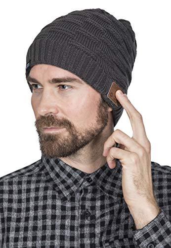 Trespass Blauwe handsfreebl muts met draadloze headset en Bluetooth, Charcoal Marl, One Size