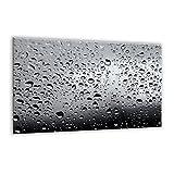 Piastra di copertura in vetro temperato 80x 52cm | grande tagliere | grigio cucina parete splash-back | Schermo per stufa elettrica in ceramica a induzione | 127268014| by semUp