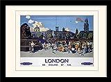 Museo Nacional de ferrocarriles Londres (9)' montado y impresión enmarcada, Multicolor, 30x 40cm