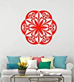 Etiqueta De La Pared Inner Mongolia Pattern Carved Wall Sticker Room Background Decorative Painting Sticker Painting 40 * 43Cm