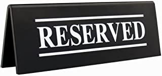 restaurant table reserved signs