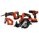 Part of the black+decker 20V max* battery system and 2 batteries doubles the runtime for larger projects and less down time Drill / Driver features an 11 position clutch with a LED work light to illuminate the work surface Circular saw features a hig...