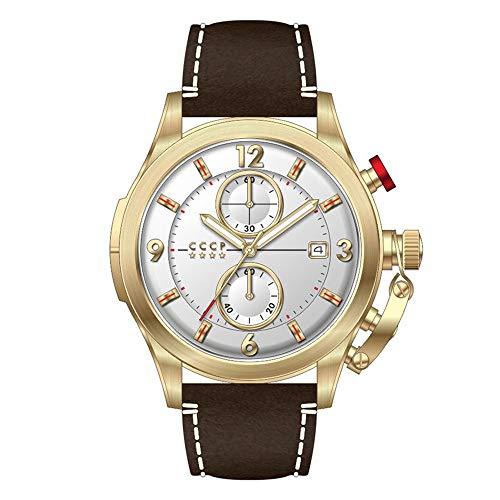 CCCP CP-7033-05 SHCHUKA Reloj de cuarzo para hombre de 43,5 mm