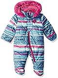 Wippette Baby Girls Striped Snowsuit Pram, Plum, 3/6M