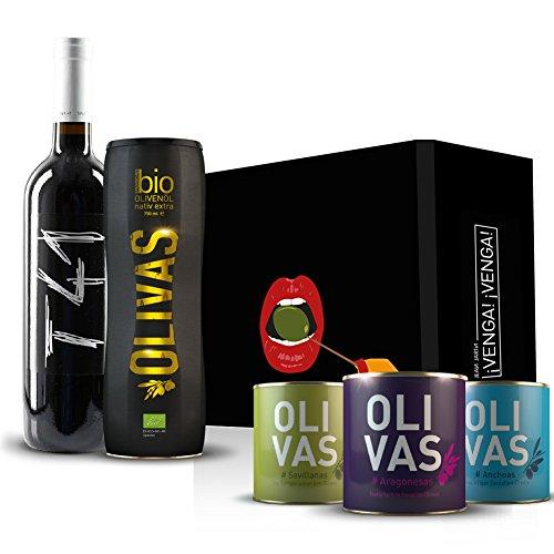 Geschenkset Bio-Olivenöl 5-teilig (mit 2018er - Vall Llach Tina 41 (T41) - Priorat)