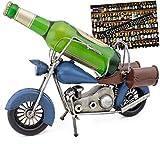 Brubaker Bier Flaschenhalter Vintage Motorrad aus Metall - handbemalt - inklusive Geschenkkarte