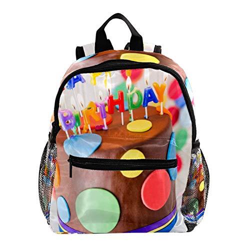 Mochila para niños y niñas con diseño de torta de chocolate