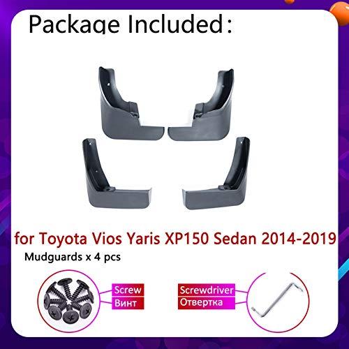 ZYDSD para Toyota Yaris VIOS Sedan XP150 2014~2019 Guardabares de Mudflap Fanflap Fender Fender Flaps Splash Flap Guards Frontal Rueda Trasera Accesorios