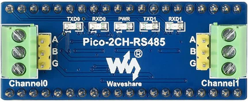 2-Channel RS485 Module for Raspberry Pi Pico Series, Incorporates RS485 Transceiver SP3485, Using UART Bus