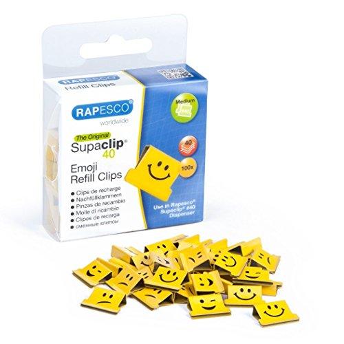 Rapesco supaclip - Caja 100 supaclips repuesto emojis