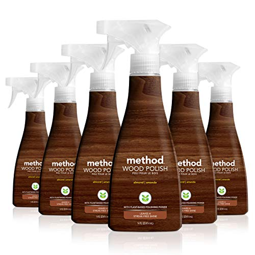 Method Wood Polish, 14 oz, Almond, Pack of 6