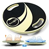Yes4All Adjustable Wooden Round Wobble Balance Board - Exercise Balance Stability Trainer with...