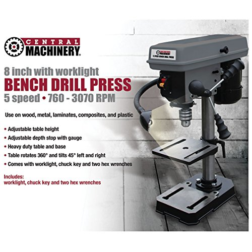 "5 Speed - 8"" Bench Mount Drill Press"