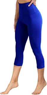 YOLIX High Waisted Leggings for Women - Tummy Control & Soft Opaque Slim Tights for Cycling, Athletic, Daily - Regular & Plus Size
