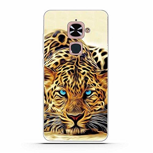 Gift_Source Le Max 2 Hülle, LeEco Le Max 2 Hülle, [Leopard ] Weicher Flexibel Klar Transparent Gel Silikon TPU Hülle Superdünn Stoßfest Tasche Handy-Kasten für LeEco Le Max 2 / Le X820 (5.7 inch)