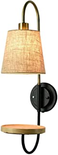 XAJGW Wooden Wall Lights Lamp, Modern Simple Nordic Style Wall Lighting Fixture Bedroom, Living Room, Baby Room, College Dorm, Coffee Table, Bookcase, AC 220V E27 Socket