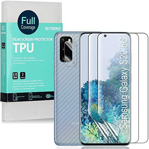 Ibywind Pellicola Protettiva per Samsung Galaxy S20 5G,[2 Pezzi]con Protezione Obiettivo Fotocamera,Pellicola Protettiva Retro,Compatibile con Il Lettore di Impronte digitali