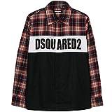 DSQUARED2 Camisa de Logotipo a Cuadros para niños Black 10 Years