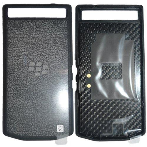 Blackberry 10246 PD Leder Batterie Door Tasche P`9982 schwarz