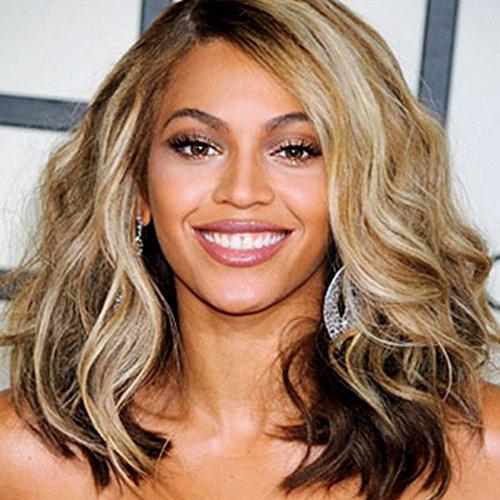 JS Beyonce Perücke, mittellang, gelockt, Full-Lace-Echthaar-Perücke, brasilianisches