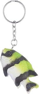 ميدالية مفاتيح على شكل سمك من توي ميجور - اخضر واسود