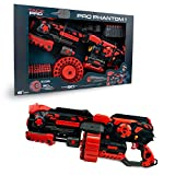 Tack Pro Phantom I Blaster - Pistola de juguete (incluye 40 dardos y cargador de tambor de 40 unidades)