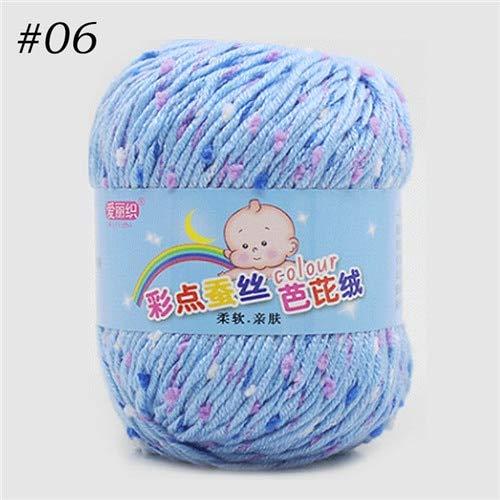 ADSIKOOJF 1 st Gekleurde Melk Katoen Hand Breien Garen Baby Wollen Weave Thread Voor Baby Kleding Kinderen Deken Draad haak Garen