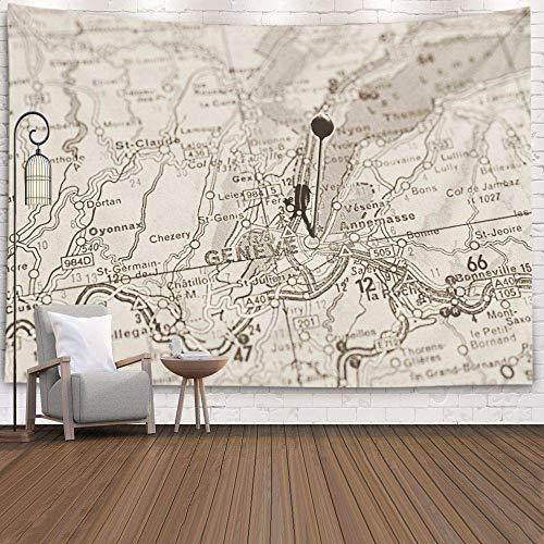 N\A Arazzo da Appendere a Parete, Decorazione Svezia aprile Città Europee Serie di mappe Primo...