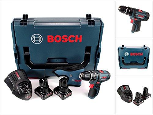 Bosch GSB 12V-15 - Taladro percutor inalámbrico (12 V, 1/2 pulgadas, 30 Nm, L-Boxx, 2 baterías de 6,0 Ah y 1 cargador)