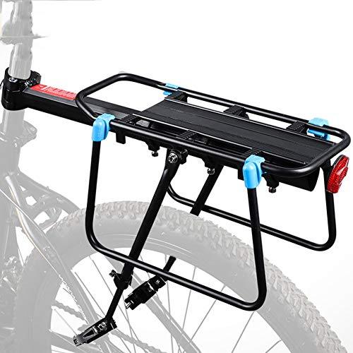 YUI Portaequipajes para Bicicletas con Accesorios De Reflector Trasero para Cargas Superiores y Laterales Más Pesadas Capacidad de 110 LB