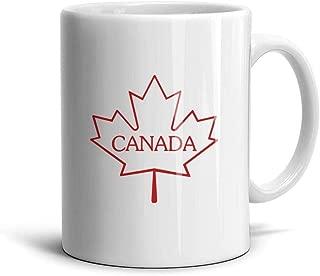 zingyone Canada Maple Leaf Ceramic Mug Funny Coffee Cups Water Office Porcelain Mugs White