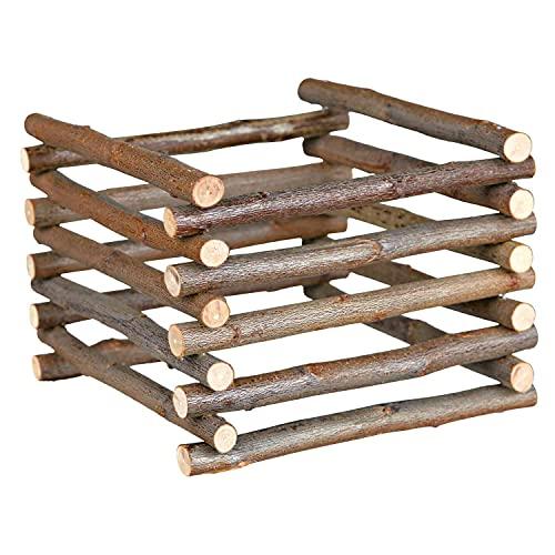 Trixie Natural Living Standheuraufe aus naturbelassenen Holzstäben