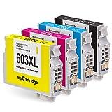 Mycartridge 4 Compatibles Epson 603XL 603 XL Cartouche d'encre pour Epson Expression...