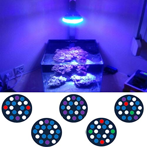 Aquarium 54W Vollspektrum LED Aquarium Beleuchtung E27 Aquarium Licht LED PAR38 Korallenriff Verwendet LED-Licht for bepflanzte Aquarien Refugiums Aquarium Lichter (Color : B18B)