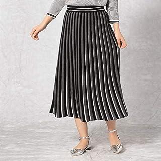 コムサマチュア(Comme ca Mature) 【ニットアップとしても使える】ニットプリーツスカート