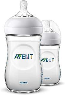 Philips Avent Natural Baby Bottles, 260ml, 2-Pack, SCF033/27