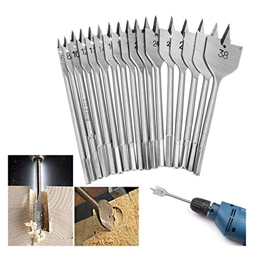 ooege Flat Drill Long High-carbon Steel Wood Flat Drill Set Woodworking Spade Drill Bits Durable Woodworking Tool Sets (Hole Diameter : 45mm)