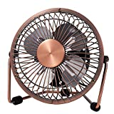 MerLerner USB Desk Fan 4 Inch Mini Portable Ultra Quiet Cooling Fan 360°Rotation for Home Office Table USB Powered ONLY...