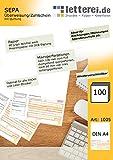 SEPA-Überweisung/-Zahlschein mit Quittung, 100 Blatt A4, unteres 1/3 mikroperforiert, inkl. €...