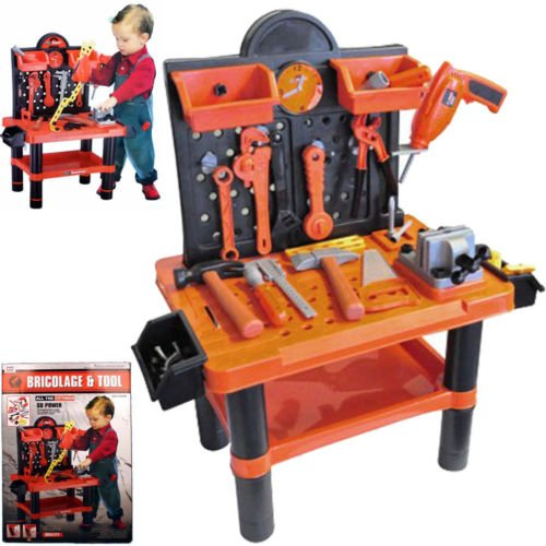 CHILDRENS 54PC TOOL BENCH PLAY SET WORK SHOP TOOLS KIT BOYS KIDS WORKBENCH TOY by BARGAINS-GALORE
